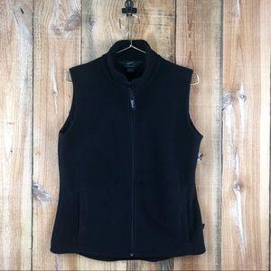 WOOLRICH | Women's Black Andes Fleece Zip-Up Vest